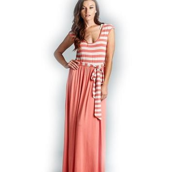 Work For It Striped Maxi Dress