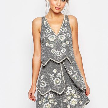 Frock and Frill Embellished Tiered Dress