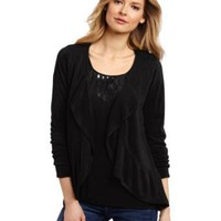 Amazon.com: Sag Harbor Women's Sweater Ruffle Duet: Clothing