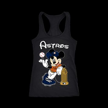 AUGUAU Mickey Baseball World Series Champions 2017 Houston Astros Tank