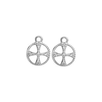 ROUND CROSS EARRING CHARMS