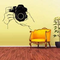 Wall Decal Vinyl Sticker Decals Photo Camera Canon Nikon Hands (z1645)
