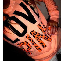 """""""Pink"""" Victoria's Secret Letter Print Long Sleeve Top Blouse Pullover Sweater"""