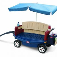 Little Tikes Deluxe Ride and Relax Wagon with Umbrella:Amazon:Toys & Games