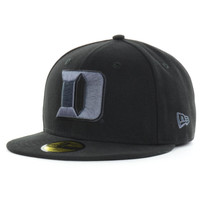 Duke Blue Devils NCAA Black Gray Basic 59FIFTY Cap