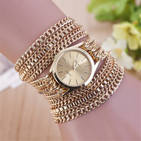 Woman Bracelet Watch Chain  Wrist Watches Vintage  Female Watches Fashion Gold Plated Quartz Wristwatch  2015 New Casual Watch