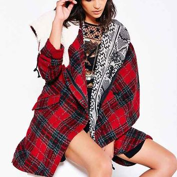 Ecote Asymmetrical Blanket Coat-