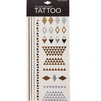 With Love From CA Geo Flash Tattoos - Womens Scarves - Gold And Silver - One