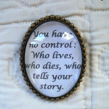 Hamilton quote brooch