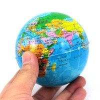 Brand Toy Ball Earth Globe Stress Relief Bouncy Foam Ball Kids Toy World Geography Map Ball