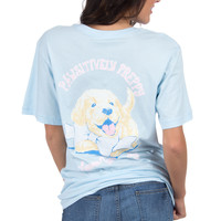 Lauren James Short Sleeve Tee- PAWSitively Preppy- Blue- FINAL SALE
