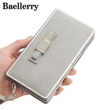 Baellerry Bow Tie Wallets Box Cute Wallet Women Leather Purse Long Clutch Women Wallet Coin Phone Purses Carteira WWS013