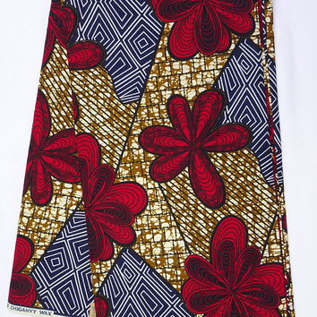 African print fabric by the Yard Ankara fabric by the yard African Supplies African fabric wax print Nigerian Ghanaian fashion fabric flower