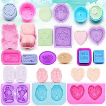 Multifunctional 3D handmade Silicone mold fondant cake chocolate moulds DIY Soap Mold Cake Decorating Tools soap making supplies