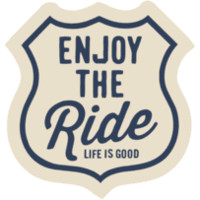 Enjoy The Ride Sticker|Life is good