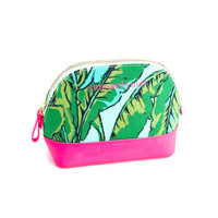 Banana Leaf Saffiano Large Cosmetic Case