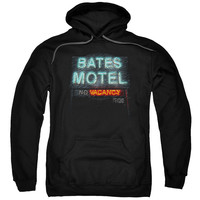 PSYCHO/BATES MOTEL-ADULT PULL-OVER HOODIE-BLACK