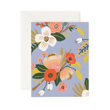 Lively Floral Periwinkle Greeting Card