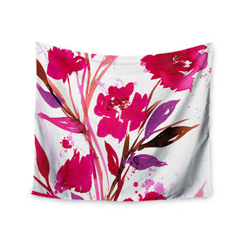 "Ebi Emporium ""Pocket Full Of Posies 11"" Nature Pink Wall Tapestry"