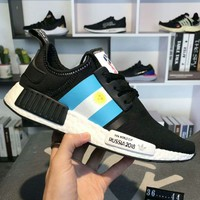 ADIDAS NMD R1 PK & FIFA WORLD CUP RUSSIA 2018 Knitted Running Shoes F-CSXY