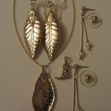 Yellow Goldfill and Gold Plate Lot of Fashion Jewelry-See Description