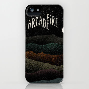 Mountains Beyond Mountains (Arcade Fire) iPhone & iPod Case by Speakerine / Florent Bodart