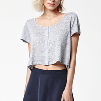 Lisakai The Salty Linen Stripe Short Sleeve Top at PacSun.com