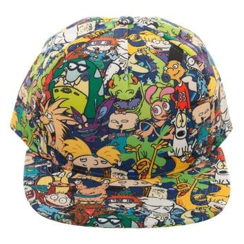 Nickelodeon Character Collage Hat