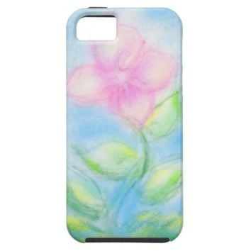 Pretty Pastel Flower Design iPhone SE/5/5s Case