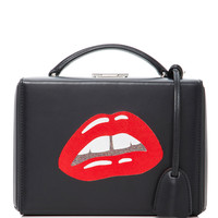 Small Grace Box Bag with Metallic Lips | Moda Operandi