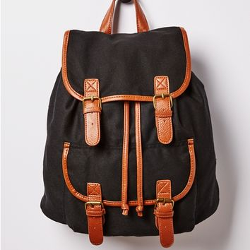 Double Buckled Mini Backpack