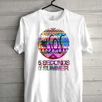5 second of summer aztec,5 SOS aztec ,5 SOS  print Funny shirt for t shirt mens and t shirt girl size s, m, l, xl, xxl