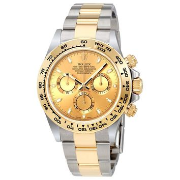 Rolex Cosmograph Daytona Champagne Dial Steel and 18K Yellow Gold Men\'s Watch