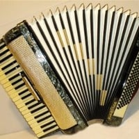 Beautiful Rare German Piano Accordion Firotti Elegance 120 Bass, Very Nice Sound