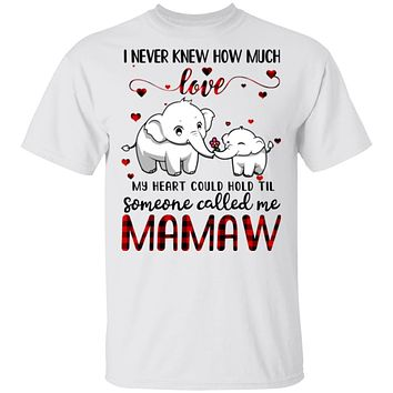 Someone Called Me Mamaw Elephant Red Plaid Mother's Day