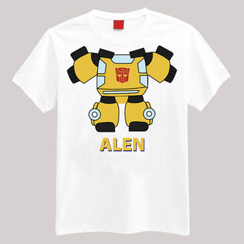 Transformers Bumblebee Personalized Shirt Your Name On Shirt Headless Shirt Cartoon Body Shirt
