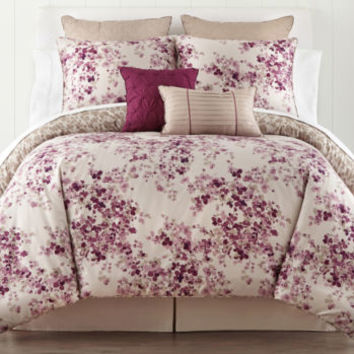 jcpenney - Liz Claiborne® Plum Garden 4-pc. Comforter Set & Accessories - jcpenney