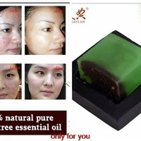 powerful acne remover  Pure tea tree essential oil soap acne treatt and Remove whelk shrink pore face care facial soap