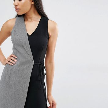 Love Two Tone Tailored Wrap Dress at asos.com