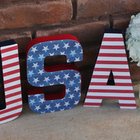 Fourth of July Decor, 4th of July Decor, USA, Independence Day Decor, Patriotic decor, Red white and blue, Flag decor, Americana decor