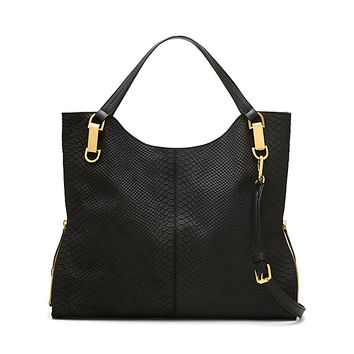 VINCE CAMUTO RILEY4- LEATHER RATTLESNAKE TOTE