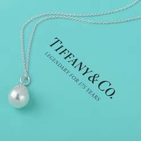 Tiffany & Co. Sterling Silver Pearl Necklace