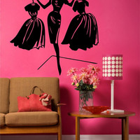 Fashion Model Wall Art, Wall Decal, Vinyl Decal, Vinyl Wall art Fashion Model