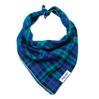 Blackwatch Plaid Cotton Flannel Dog Bandana - McCadden