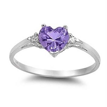 Heart Cut Promise Ring