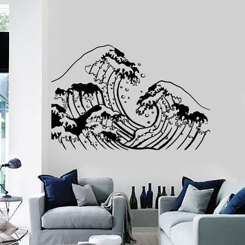 Vinyl Wall Decal Ocean Wave Sea Marine Home Decoration Stickers Unique Gift (ig4510)