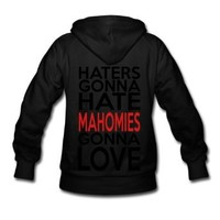 Spreadshirt Women's Haters Hate Mahomies Love Hoodie, Purple, M