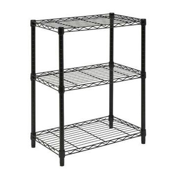 3tier Adjust Shelving Unit Blk