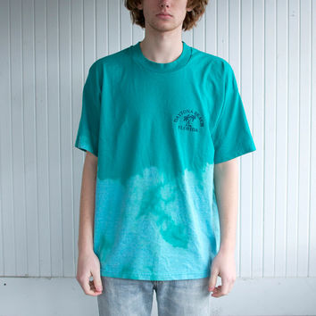 Dip Dyed Daytona Beach Teal T-Shirt