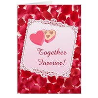 Red Roses Petals Valentine's Day Greeting Card